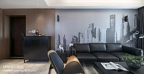 2018面积109平简约三居客厅实景图片大全