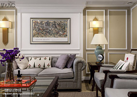 温馨320平美式别墅客厅装修图片