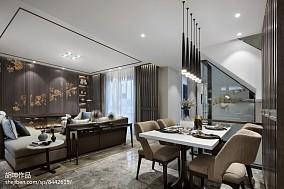 精美面积126平别墅餐厅中式装修实景图片厨房中式现代设计图片赏析