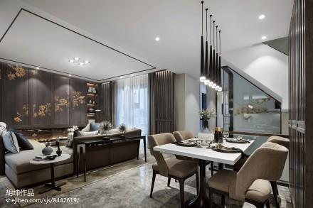 精美面积126平别墅餐厅中式装修实景图片厨房