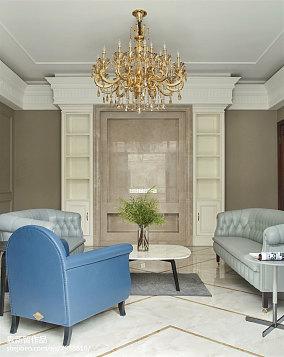 2018别墅客厅装修实景图片别墅豪宅欧式豪华家装装修案例效果图
