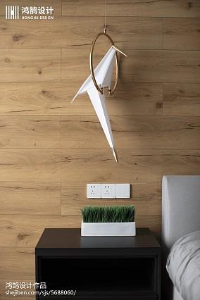 热门面积105平现代三居卧室欣赏图家装装修案例效果图