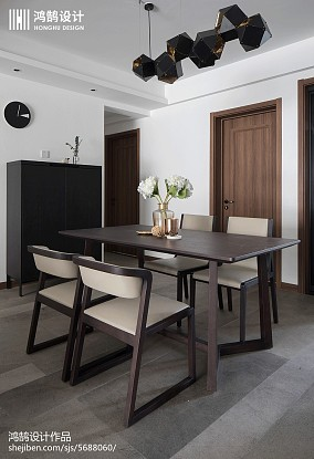 精美面积102平现代三居餐厅欣赏图片三居现代简约家装装修案例效果图