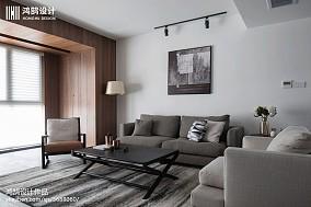 134平现代台湾风客厅设计图三居现代简约家装装修案例效果图