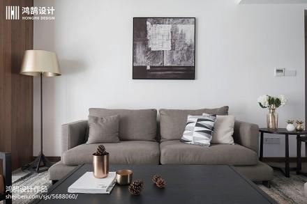 2018107平方三居客厅现代装饰图片大全三居现代简约家装装修案例效果图