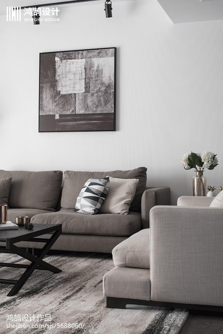 质朴96平现代三居客厅图片欣赏客厅
