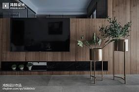 134平现代台湾风背景墙设计图三居现代简约家装装修案例效果图