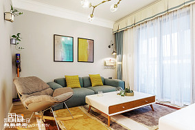 精选面积86平简约二居客厅装修效果图片