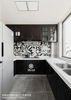 2018面积101平美式三居厨房装修效果图
