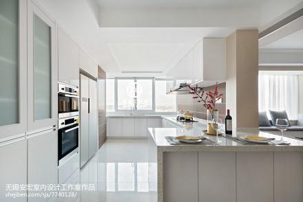 平米三居厨房现代装修设计效果图片欣赏餐厅