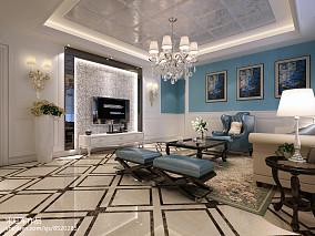 热门103平米三居客厅效果图片