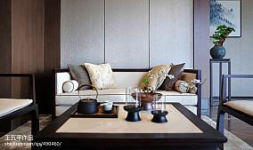 平方中式别墅客厅效果图别墅豪宅中式现代家装装修案例效果图