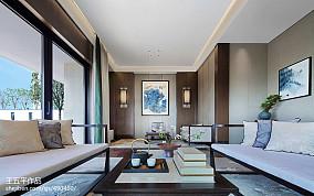 温馨535平中式别墅客厅设计美图别墅豪宅中式现代家装装修案例效果图