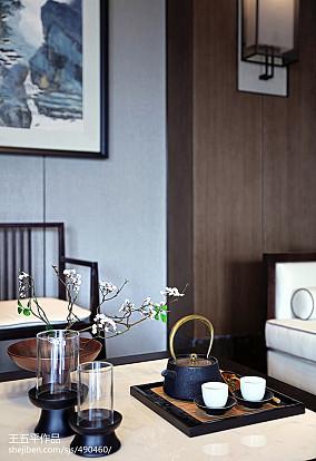 精美大小134平别墅客厅中式装修设计效果图片大全别墅豪宅中式现代家装装修案例效果图