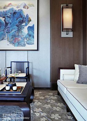 2018面积132平别墅客厅中式装修效果图别墅豪宅中式现代家装装修案例效果图