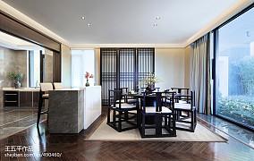 热门面积122平别墅餐厅中式实景图片大全别墅豪宅中式现代家装装修案例效果图