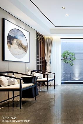 平方中式别墅书房装修图别墅豪宅中式现代家装装修案例效果图