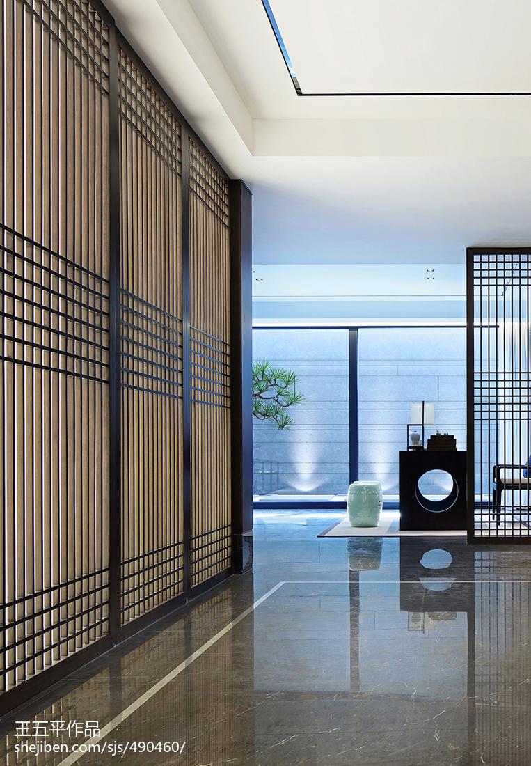 精选135平米中式别墅过道装修设计效果图片功能区中式现代功能区设计图片赏析
