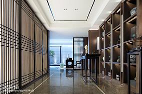 独栋别墅样板房过道设计图别墅豪宅中式现代家装装修案例效果图