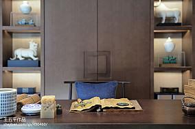 热门面积139平别墅书房中式实景图片大全别墅豪宅中式现代家装装修案例效果图