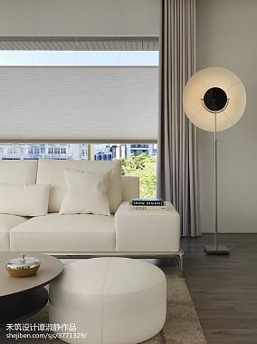 优雅99平现代三居客厅实景图片