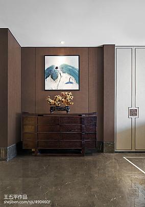 优雅657平中式别墅装饰美图别墅豪宅中式现代家装装修案例效果图