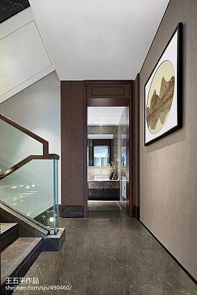 悠雅636平中式别墅装修效果图别墅豪宅中式现代家装装修案例效果图