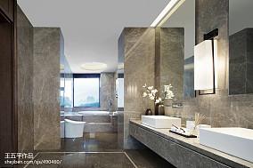 精美别墅卫生间中式装修欣赏图片别墅豪宅中式现代家装装修案例效果图
