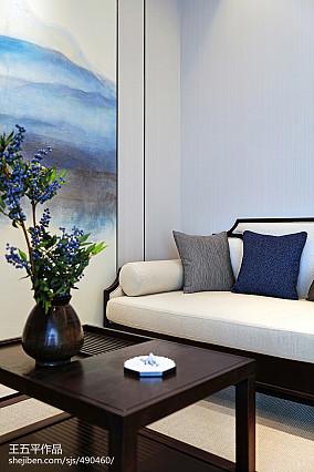 精美133平米中式别墅客厅装修图片别墅豪宅中式现代家装装修案例效果图