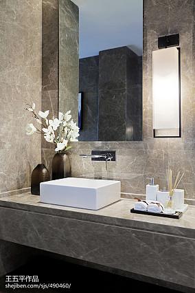热门面积133平别墅卫生间中式实景图片欣赏别墅豪宅中式现代家装装修案例效果图