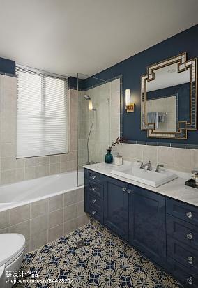 明亮59平混搭复式卫生间效果图卫生间潮流混搭设计图片赏析