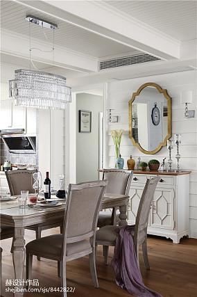 平美式别墅餐厅案例图厨房美式经典设计图片赏析