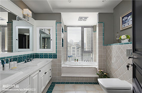 华丽644平美式别墅卫生间效果图欣赏卫生间美式经典设计图片赏析