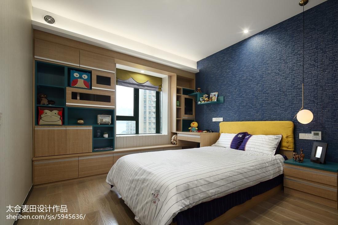 简单混搭三居儿童房设计实景图卧室现代简约卧室设计图片赏析
