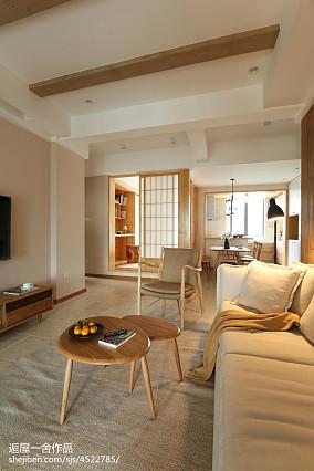 精致102平日式三居客厅装修图