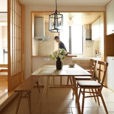 悠雅120平日式三居餐厅实景图片