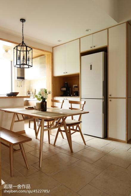 明亮112平日式三居餐厅效果图厨房