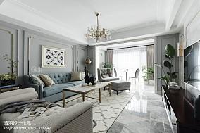 2018143平米四居客厅美式装饰图片
