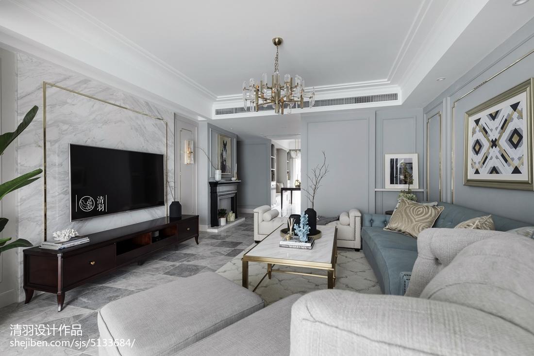 美式四居客厅实景图客厅美式经典客厅设计图片赏析