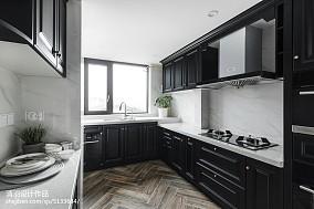 2018美式四居厨房装修设计效果图