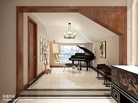 中式复式休闲区装修设计效果图片欣赏