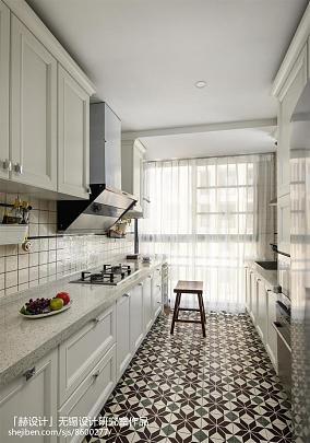 面积112平复式厨房美式欣赏图