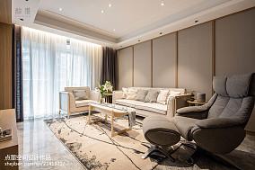 精美面积101平中式三居客厅装修设计效果图三居中式现代家装装修案例效果图