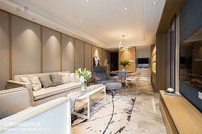 2018精选104平米三居客厅中式实景图片大全三居中式现代家装装修案例效果图