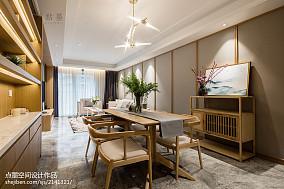 2018精选三居餐厅中式装修欣赏图片三居中式现代家装装修案例效果图