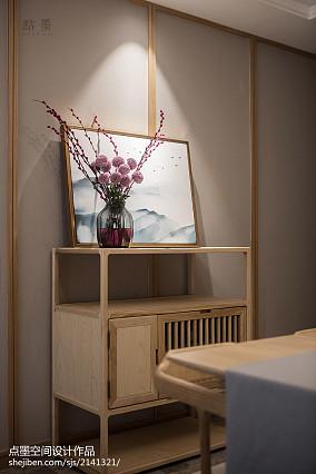 精美77平中式三居餐厅图片欣赏三居中式现代家装装修案例效果图