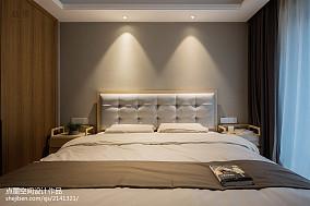 精选大小95平中式三居卧室装修实景图片三居中式现代家装装修案例效果图