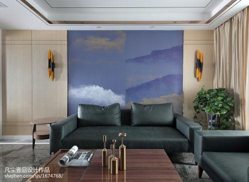 悠雅145平混搭四居客厅美图客厅茶几121-150m²四居及以上家装装修案例效果图