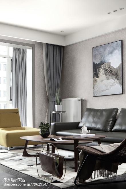 精美51平现代复式客厅图片大全
