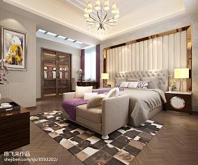 简单卧室床头背景墙